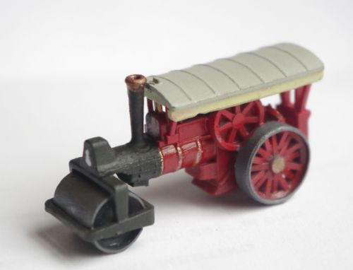 Arch Laser A3D0019 N Gauge Red Steam Roller (painted) (1)